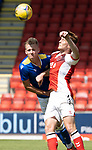 St Johnstone v Fleetwood Town…24.07.21  McDiarmid Park<br />Ali McCann and Ged Garner<br />Picture by Graeme Hart.<br />Copyright Perthshire Picture Agency<br />Tel: 01738 623350  Mobile: 07990 594431
