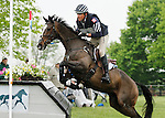 LEXINGTON, KY - APRIL 30: #3 Steady Eddie and Boyd Martin compete in the Cross Country Test for the Rolex Kentucky 3-Day Event at the Kentucky Horse Park.  April 30, 2016 in Lexington, Kentucky. (Photo by Candice Chavez/Eclipse Sportswire/Getty Images)