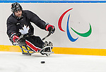 Sochi, RUSSIA - Mar 2 2014 -  Steve Arsenault during practice before the 2014 Paralympics in Sochi, Russia.  (Photo: Matthew Murnaghan/Canadian Paralympic Committee)