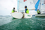 ISAF Emerging Nations Program, Langkawi, Malaysia.<br />Chi-Chian Wu from Taiwan, TPEWC1   <br />Chih-Yuan Chu  from Taiwan, TPECC2.<br />420, Sail Number: TPE 86168