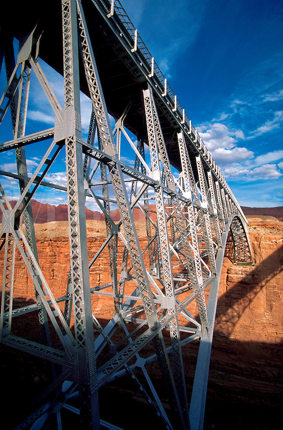 Navajo Bridge, detail, Marble Canyon, Arizona