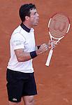 Roberto Bautista Agut during Madrid Open Tennis 2015 match.May, 5, 2015.(ALTERPHOTOS/Acero)