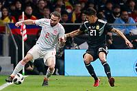 Spain's Daniel Carvajal (l) and Argentina's Maximiliano Meza during international friendly match. March 27,2018.(ALTERPHOTOS/Acero) /NortePhoto.com NORTEPHOTOMEXICO