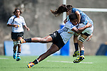 Fiji vs Argentina during the Day 1 of the IRB Women's Sevens Qualifier 2014 at the Skek Kip Mei Stadium on September 12, 2014 in Hong Kong, China. Photo by Aitor Alcalde / Power Sport Images