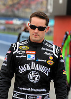 Feb 22, 2009; Fontana, CA, USA; NASCAR Sprint Cup Series driver Casey Mears during the Auto Club 500 at Auto Club Speedway. Mandatory Credit: Mark J. Rebilas-