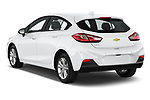 Car pictures of rear three quarter view of 2019 Chevrolet Cruze LT 5 Door Hatchback Angular Rear
