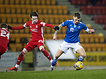 St Johnstone v Aberdeen…27.01.21   McDiarmid Park   SPFL<br />Jason Kerr and Scott Wright<br />Picture by Graeme Hart.<br />Copyright Perthshire Picture Agency<br />Tel: 01738 623350  Mobile: 07990 594431