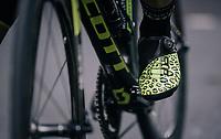 Caleb Ewan's (AUS/Mitchelton Scott) leopard shoes<br /> <br /> Stage 8: London to London (77km)<br /> 15th Ovo Energy Tour of Britain 2018
