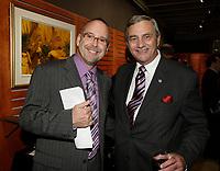 Montreal (Qc) CANADA Sept  30 2010 - Centaur Theater fundraiser Gala. Roy Surette (L), Fergus V. Keyes (R)