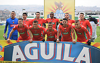 TUNJA - COLOMBIA, 27-02-2019: Jugadores de Patriotas posan para una foto previo al encuentro por la fecha 7 de la Liga Águila I 2019 entre Patriotas Boyaca y Once Caldas jugado en el estadio La Independencia de la ciudad de Tunja. / Players of Patriotas pose to a photo prior the match for the date 7 of the Liga Aguila I 2019 between Patriotas Boyaca and Once Caldas played at La Independencia stadium in Tunja city. Photo: VizzorImage / Edward Santiago Leguizamon / Cont
