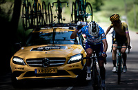 Julian Alaphilippe (FRA/Deceuninck - Quick-Step) refreshing himself<br /> <br /> Stage 7: Saint-Genix-les-Villages to Pipay  (133km)<br /> 71st Critérium du Dauphiné 2019 (2.UWT)<br /> <br /> ©kramon