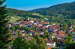 Deutschland, Bayern, Niederbayern, Naturpark Bayerischer Wald, Bodenmais: Hoehenluftkurort ind Wintersportort am Fuss des Arber | Germany, Bavaria, Lower-Bavaria, Nature Park Bavarian Forest, Bodenmais: popular holiday resort