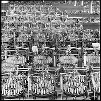 Braider tender, Conrad Jarvis braid mill, Pawtucket, RI 1974