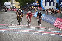 23rd May; 2021 Giro D Italia stage 15, Grado to Gorizia;  Cofidis 2021, Intermarche - Wanty Gobert Arndt, Nikias Consonni, Simone Hermans, Quinten Gorizia cross the finish line in Gorizia
