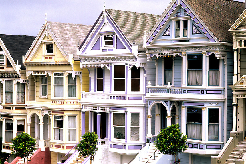 Famous Victorian Houses in beautiful San Francisco Californi