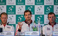 Davis Cup - Barclaycard Arena - Great Britain Press Conference - 02/03/2016