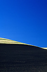 Cultivated  wheat field abstract with blue sky Eastern Washington State USAb