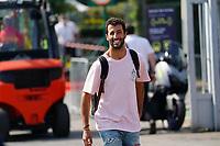9th September 2021; Nationale di Monza, Monza, Italy; FIA Formula 1 Grand Prix of Italy, Driver arrival and inspection day:  Daniel Ricciardo AUS 3, McLaren F1 Team