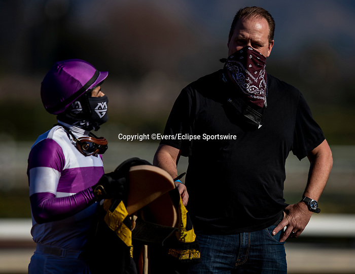 December 26, 2020: Mario Gutierrez and Doug Oneil at Santa Anita Park in Arcadia, California on December 26, 2020. Evers/Eclipse Sportswire/CSM