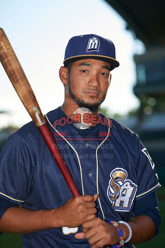San Antonio Missions shortstop Jose Rondon (6) poses for a photo before a game against the Midland RockHounds on April 21, 2016 at Nelson W. Wolff Municipal Stadium in San Antonio, Texas.  Midland defeated San Antonio 9-2.  (Mike Janes/Four Seam Images)