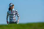 Song-Yi Ahn of Korea looks on during the Hyundai China Ladies Open 2014 at World Cup Course in Mission Hills Shenzhen on December 13 2014, in Shenzhen, China. Photo by Xaume Olleros / Power Sport Images