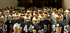 Oct. 22, 2011; The team prepares to take the field in their new gold helmets...Photo by Matt Cashore/University of Notre Dame