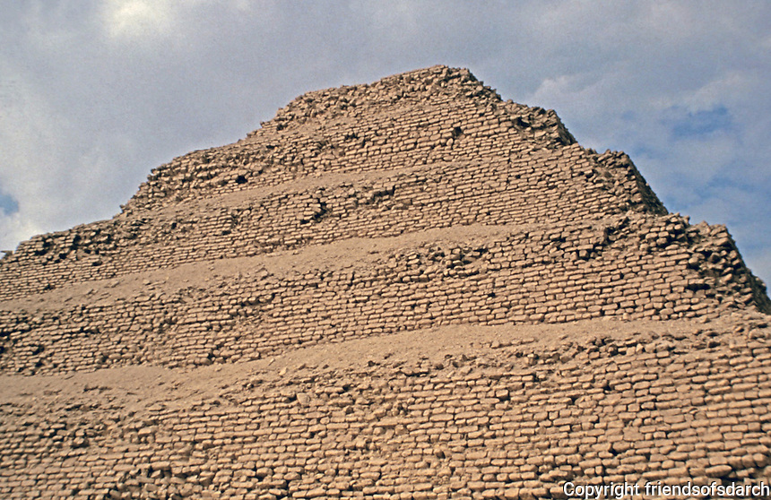 Pyramid of Djoser, a step pyramid. Monument to Kings.Located in Memphis, Egypt. 27th Century B.C.