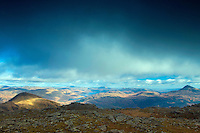 A' Chrois, Ben Lomond and the Southern Highlands from Beinn Narnain, the Arrochar Alps, Loch Lomond and the Trossachs National Park, Argyll & Bute
