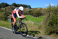 Tom Lucas (Tasman Wheelers) masters men. Time trials on Day One of the 2018 NZ Age Group Road Cycling Championships in Carterton, New Zealand on 20 April 2018. Photo: Dave Lintott / lintottphoto.co.nz