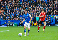 Sheffield Wednesday's midfielder Kieran Lee (5) spreads the ball wide during the Sky Bet Championship match between Sheff Wednesday and Barnsley at Hillsborough, Sheffield, England on 28 October 2017. Photo by Stephen Buckley / PRiME Media Images.