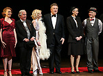 "Holley Fain, Henry Winkler, Anne Heche, Alec Baldwin, Julie Halston and Dan Butler during the Roundabout Theatre Company One-Night Only Benefit Reading Curtain Call for  ""Twentieth Century"" at Studio 54 on April 29, 2019 in New York City."