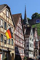 Fachwerkhäuser in  Klingenberg am Main, Bayern, Deutschland