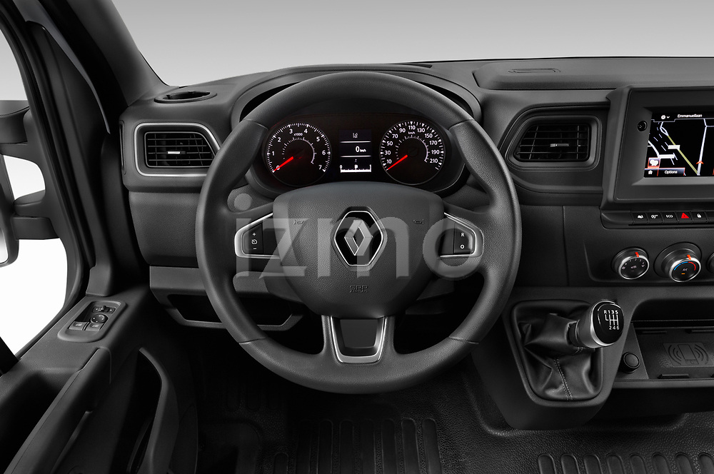 Car pictures of steering wheel view of a 2020 Renault Master Confort 4 Door Cargo Van