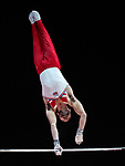 European Championships Glasgow 12th August 2018. Individual Apparatus Finals .HALL James GBR