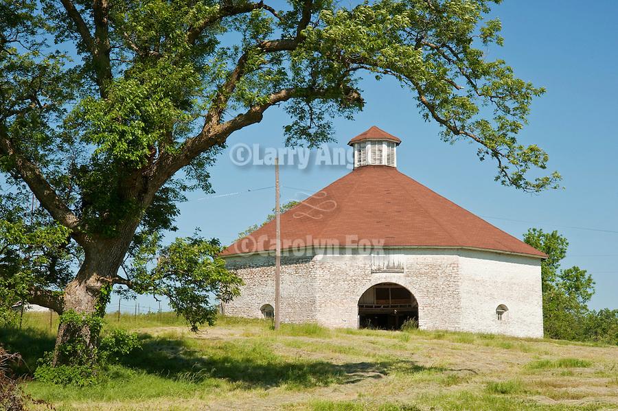 Historic GIlmore Round Barn built c. 1889, Greene Co., Missouri.