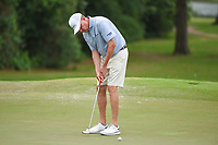 April 29th 2021, The Woodlands, Texas USA;  Davis Love III watches his putt on 2 during the preview of the 2021 Insperity Invitational at The Woodlands Country Club on April 29, 2021 in The Woodlands, Texas.