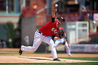 Erie Seawolves starting pitcher Tommy Collier (43) delivers a pitch during a game against the Altoona Curve on July 10, 2016 at Jerry Uht Park in Erie, Pennsylvania.  Altoona defeated Erie 7-3.  (Mike Janes/Four Seam Images)