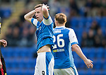 St Johnstone v Partick Thistle…08.08.17… McDiarmid Park.. Betfred Cup<br />Steven MacLean reacts to a missed chance<br />Picture by Graeme Hart.<br />Copyright Perthshire Picture Agency<br />Tel: 01738 623350  Mobile: 07990 594431