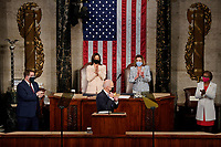NYTSPEECH - President Joe Biden delivered an address to a joint session of Congress at the Capitol in Washington on Wednesday, April 28, 2021.  <br /> CAP/MPI/RS<br /> ©RS/MPI/Capital Pictures