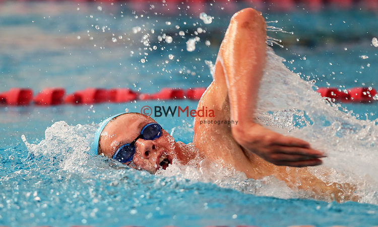 Quinton Hurley, 1500m Freestyle. Swimming New Zealand National Short Course Championships, National Aquatic Centre, New Zealand, Saturday 6th October 2018. Photo: Simon Watts/www.bwmedia.co.nz