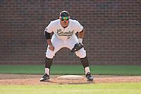 First baseman David Anderson #23 of the Coastal Carolina Chanticleers on defense against the North Carolina Tar Heels at Boshamer Stadium May 30, 2010, in Chapel Hill, North Carolina.  Photo by Brian Westerholt / Four Seam Images