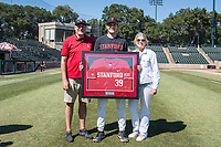 STANFORD, CA - MAY 29: Jacob Palisch and family after a game between Oregon State University and Stanford Baseball at Sunken Diamond on May 29, 2021 in Stanford, California.
