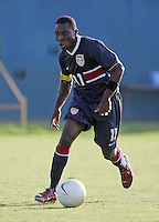 Freddy Adu dribbles at the U.S. Under 20 Men's National Team Training Camp in Sunrise, FL, October 8-12 2006.