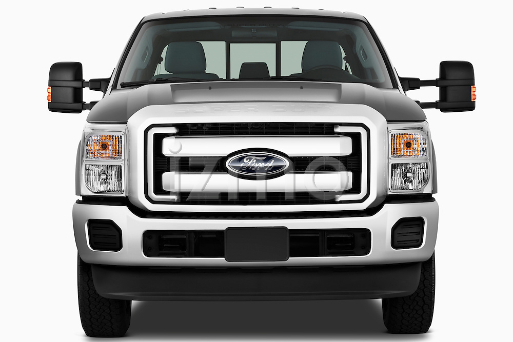Straight front view of a 2011 Ford F-250 Crew Cab 4x4