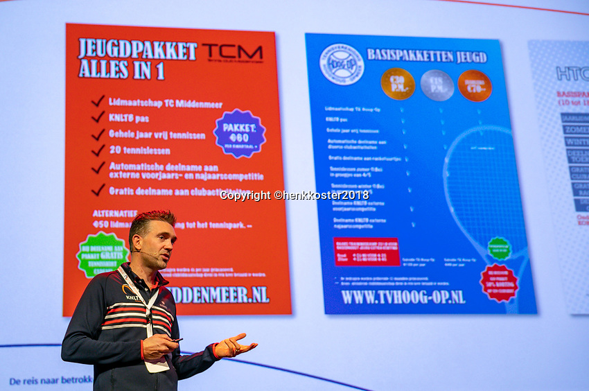Nieuwegein,  Netherlands, 24 November 2018, KNLTB Year congress KNLTB. Knowledge session<br /> Photo: Tennisimages.com/Henk Koster