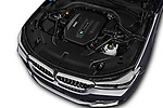 Car stock 2018 BMW 6 Series Gran Turismo Luxury 5 Door Hatchback engine high angle detail view
