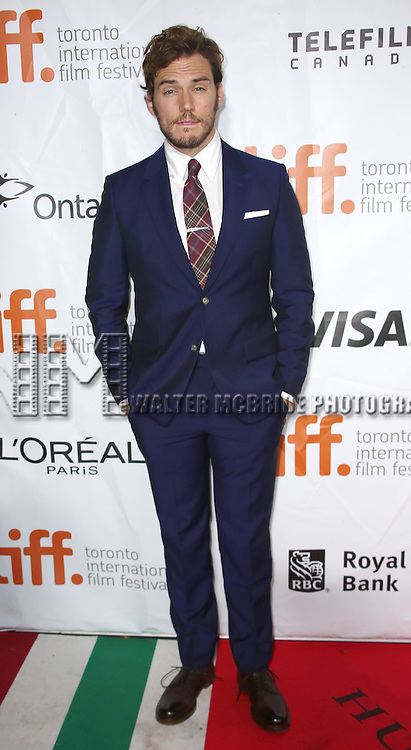 Sam Claflin attending the 'The Riot Club' red carpet arrivals during the 2014 Toronto International Film Festival at the Roy Thomson Hall on September 6, 2014 in Toronto, Canada.