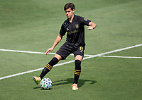 LOS ANGELES, CA - AUGUST 22: Francisco Ginella #8 of the LAFC moves with the ball during a game between Los Angeles Galaxy and Los Angeles FC at Banc of California Stadium on August 22, 2020 in Los Angeles, California.