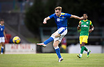 St Johnstone v Preston North End…13.07.21  McDiarmid Park<br />Liam Craig has a shot at gola<br />Picture by Graeme Hart.<br />Copyright Perthshire Picture Agency<br />Tel: 01738 623350  Mobile: 07990 594431