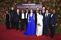 """Hamilton"" Cast<br /> arriving for the 2018 Evening Standard Theatre Awards at the Theatre Royal Drury Lane, London<br /> <br /> ©Ash Knotek  D3460  18/11/2018"